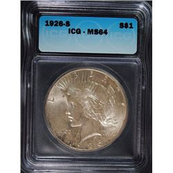 1926-S PEACE DOLLAR ICG MS-64
