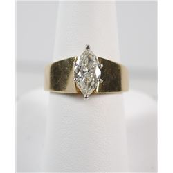 STUNNING 1.58ct MARQUISE DIAMOND set in 14k YELLOW GOLD RING, SIZE 8.5