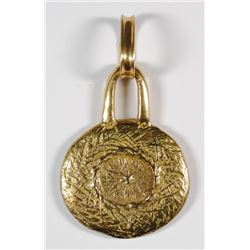 18k SOLID GOLD PENDANT - REPLICA of PIRATES GOLD - 29.9 dwt SOLID 18k GOLD