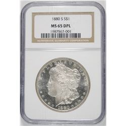 1880-S MORGAN DOLLAR NGC MS-65 DPL