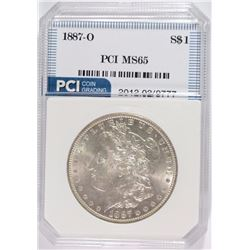 1887-O MORGAN SILVER DOLLAR, PCI GEM BU