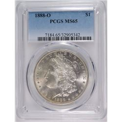 1888-O MORGAN DOLLAR PCGS MS-65 BLAST WHITE