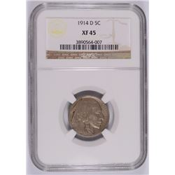 1914-D BUFFALO NICKEL NGC XF-45
