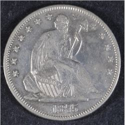 1875-S SEATED LIBERTY HALF AU/BU