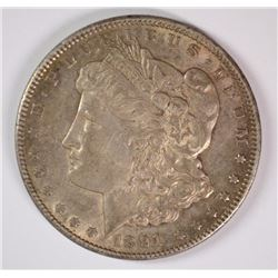 1891-CC MORGAN DOLLAR CHOICE BU TONED KEY COIN