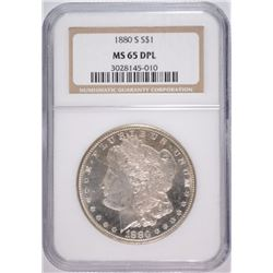 1880-S MORGAN DOLLAR NGC MS65 DPL