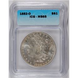 1882-O MORGAN DOLLAR ICG MS-65