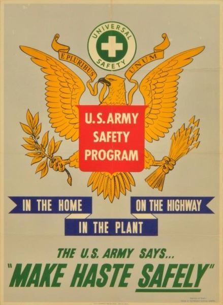 1943 U.S. Army Safety Program Poster