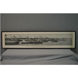 "Reframed vintage panoramic print ""Canada's Rally to the Empire- Answering the Call of the Motherland"