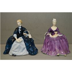 Two Royal Doulton figurines including Laurianne HN2719 and Charlotte HN2421