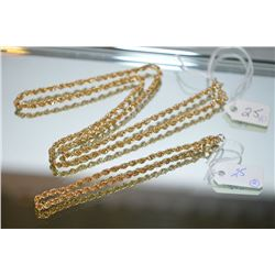 "10kt yellow gold twisted rope 20"" neck chain and matching 10kt yellow gold 8"" bracelet"