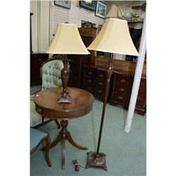 Modern vintage style matching table and floor lamp