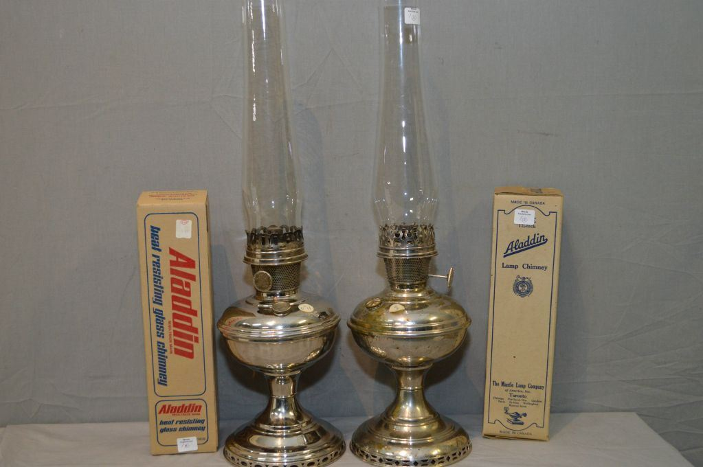 Antique mantle lamps