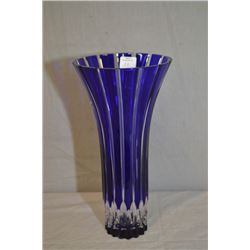 "Ajka crystal ""Larken"" cobalt blue vase 10 1/2"" in height"