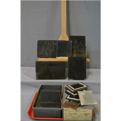 Large selection of glass slides with various content including circ 1800 native North American India