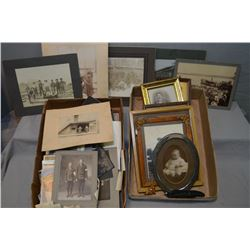 Large selection of vintage to antique photographs including some framed