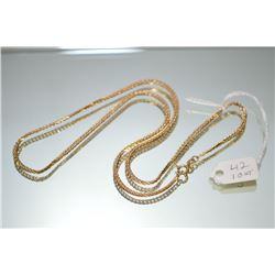 "Gent's 10kt yellow gold heavy flat curb neck chain 20"" in length. Retail replacement value $2,340.00"
