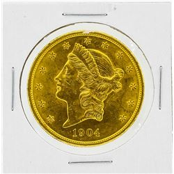 1904 $20 BU Liberty Head Gold Coin