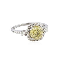 18KT White Gold GIA 2.12ctw Fancy Brownish Yellow Diamond Ring
