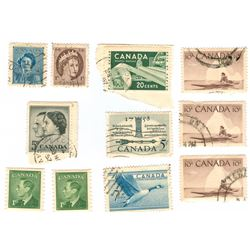 Canada Postage Stamps Lot of 11