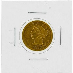 1880-S $5 VF Liberty Head Gold Coin