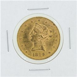 1899 $10 CU Liberty Head Gold Coin
