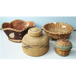 4 Indian Baskets