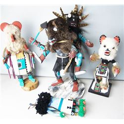 4 Kachina Carvings