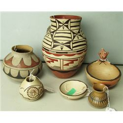 6 Southwest Pottery Pieces