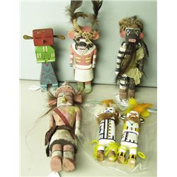6 Wooden Kachina Dolls