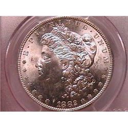 1882-S Morgan Dollar Ch MS64 PCGS