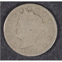 1886 LIBERTY NICKEL GOOD  KEY DATE
