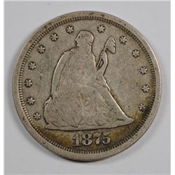 1875-S TWENTY CENT VF NICE