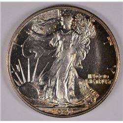 1941-S WALKING LIBERTY HALF DOLLAR, CHOICE BU