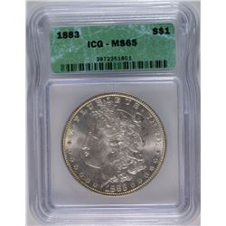 1883 MORGAN DOLLAR ICG MS-65