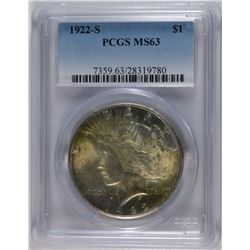 1922-S PEACE DOLLAR PCGS MS-63