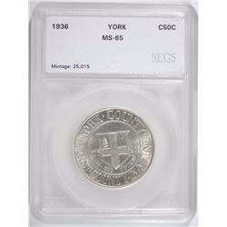 1936 YORK SILVER COMMEMORATIVE SEGS