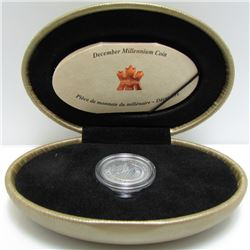 1999 Canada Sterling Silver Millennium Coin - December