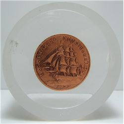 U.S. Frigate Constellation Medallion In Lucite