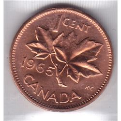 1965 Canada ICCS Graded Small Cent Penny Coin - MS-63