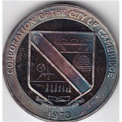 1973 Corporation of the City of Cambridge Sterling Silver Trade Dollar