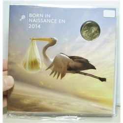 2014 Canada Born In 2014 Coin Set - Special Stork Loonie