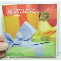 2014 Canada Happy Birthday Coin Set - Special Birthday Loonie