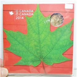 2014 Canada O Canada Coin Set With Special Maple Leaf Loonie