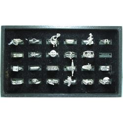 23 Various Sterling Silver Fashion Rings - 66.55 Grams