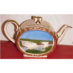 Vintage very old and rare Niagara Falls elaborate teapot