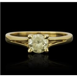 14KT Yellow Gold 0.57ct Brilliant Cut Diamond Ring
