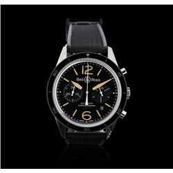 Bell & Ross Stainless Steel BR126 Sport Chrono Watch