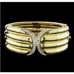 1.00ctw Diamond Bangle Bracelet - 14KT Two-Tone Gold