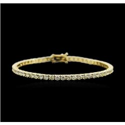 18KT Yellow Gold 6.21ctw Diamond Tennis Bracelet